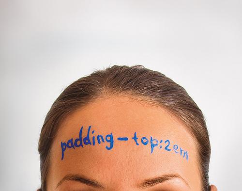 CSS padding-top